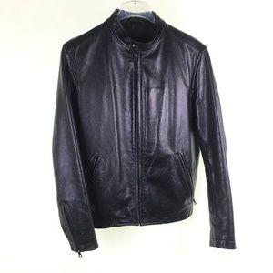 Banana Republic Black Leather Jacket JP116287